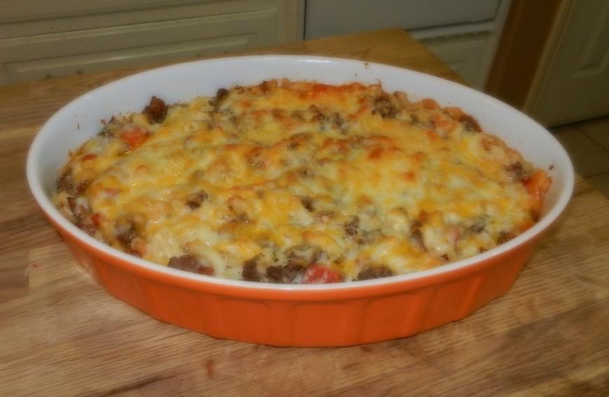 Texas Style Macaroni Beef Casserole