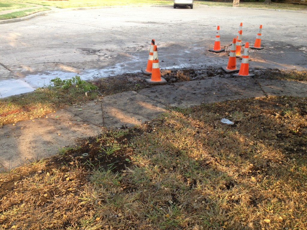 water main repairs in Allen TX